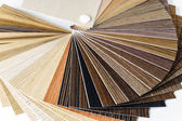 Thin wooden samples sheaf — Stock Photo