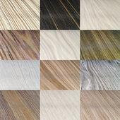 Wooden coverage types set — Stock Photo