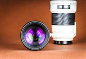Macro view of photo lens — Stock Photo