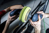 Car surface buffing — Stock Photo