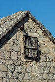 Wooden old window — Stock Photo