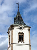 Tower of city cathedral in Levoca — Stock Photo