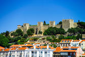 Lisboa castle bird-fly view — Stock Photo