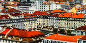 Lisboa bird-fly view — Stock Photo