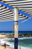 Sun awning on the beach — Stock Photo
