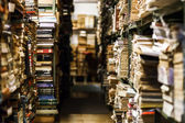 Stacks with many old books — Stock Photo