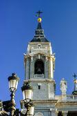 Elegant cathedral on blue sky background — Foto Stock