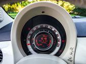 Auto speed control dashboard — Stock Photo
