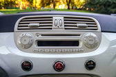 Music control in small car — Stock Photo