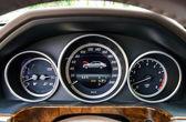 Auto speed control dashboard — Foto de Stock