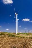Wind energy turbine power station — Fotografia Stock