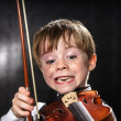 Freckled red-hair boy playing violin. — Stock Photo #49573993