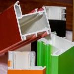 Colorised fiberglass profile samples for windows — Stock Photo #49576895