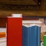 Colorised fiberglass profile samples for windows — Stock Photo #49576985