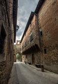 Street view of italian city — Stock Photo