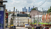 Moscow city street view. 15 of June 2013. — 图库照片
