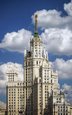 Moscow stalin skyscraper house — Stock Photo