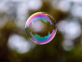 Soap bubble flying — Stock Photo