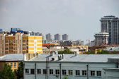 Bird-fly Moscow city view — Stock Photo