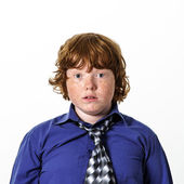 Freckled red-hair boy — Stock Photo