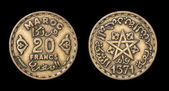 Antique coin of 20 francs — Foto Stock