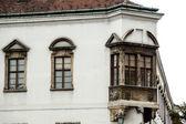 Antiga visão de rua da cidade de budapeste. hungria. — Foto Stock