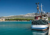 Fishery ship in a bay. Stobrec, Croatia. — Stock Photo