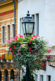Antique iron street lamp in Budapest (Hungary). — Stock Photo