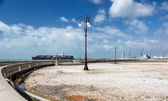 Empty quay in Livorno, Italy — Stock Photo