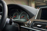 Sport car dashboard — Stock Photo