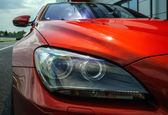 Red sport car details — Photo