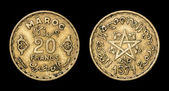Antique coin of 20 francs — Stock Photo