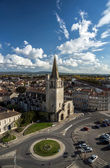 Tarascon birdfly view from the top of castle — Stock Photo