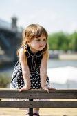 Cute little girl in the street — Foto de Stock