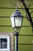 Antique iron street lamp in Budapest (Hungary). — Stok fotoğraf