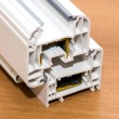PVC profile system for windows manufacturing — Stock Photo #49592153