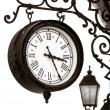 Vintage style street clock view — Stock Photo