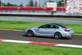 Sport car fast moving on track — ストック写真