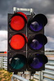 Traffic light on race track — Stock Photo