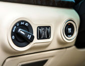 Adjustment handles in town car — Stock Photo