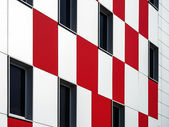 Wall of building with pattern — 图库照片