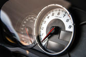 Auto speed control dashboard — Stockfoto