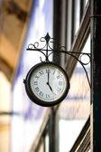 Vintage style street clock view — Foto Stock