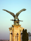 Sculpture of eagle in Budapest, Hungary. — Stok fotoğraf