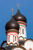 Orthodox church domes in Moscow Russia — Stock Photo
