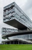 Modern glass building in Skolkovo city near Moscow Russia — Foto Stock