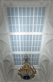 Glass ceiling with luster in old magnific palace — Stock fotografie