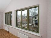 Fiberglass windows with decorative elements — Stock Photo