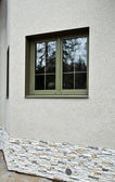 Groene fiberglas windows — Stockfoto