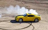 Luxury yellow sport car — Stock Photo